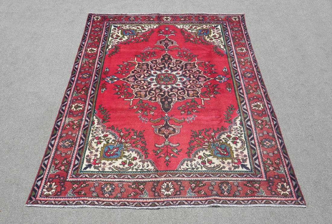 Spectacular Semi Antique Persian Tabriz 9.8x6.8
