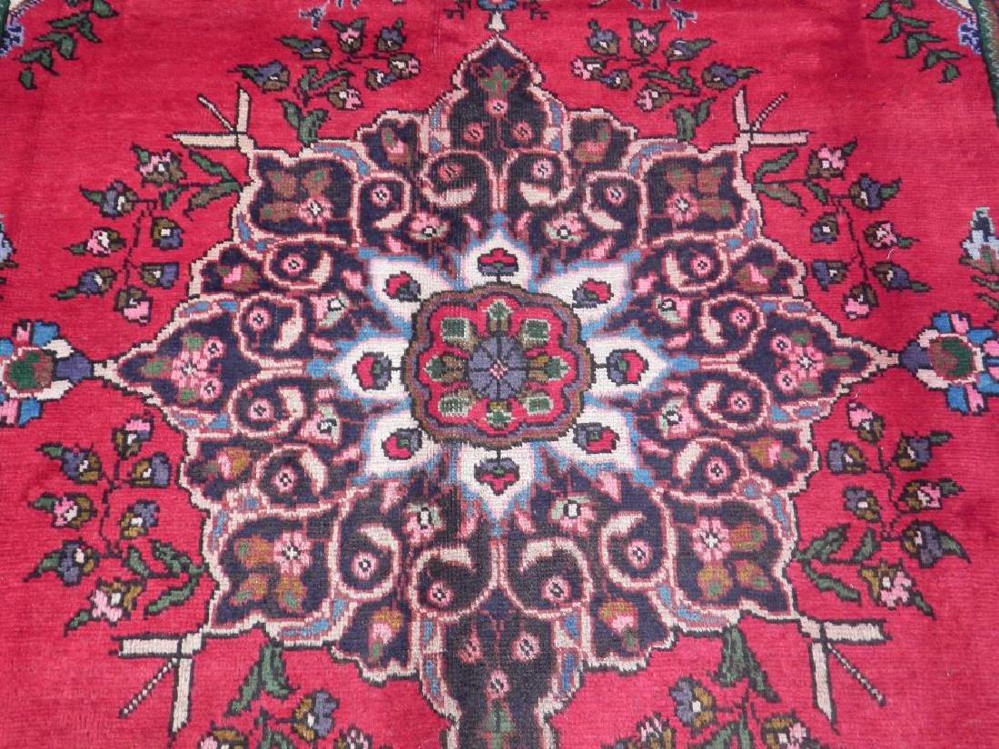 Spectacular Semi Antique Persian Tabriz 9.8x6.8 - 4
