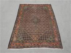 Detailed Semi Antique Persian Bidjar 9.4x6.7