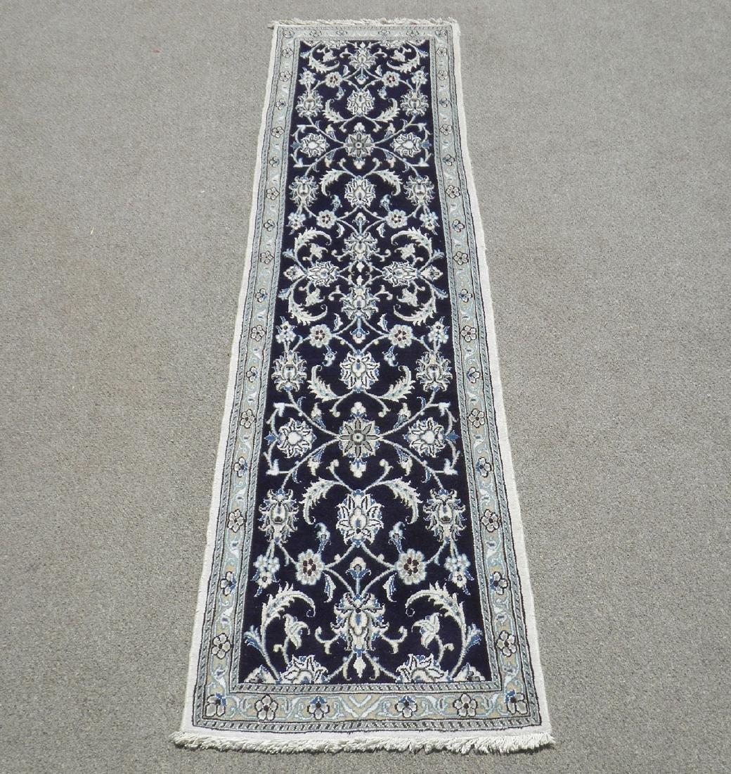 Hand Woven Persian Nain Runner 9.3x2.2