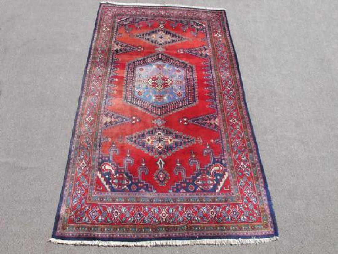 Hand Woven Wool on Wool Semi Antique Persian Viss