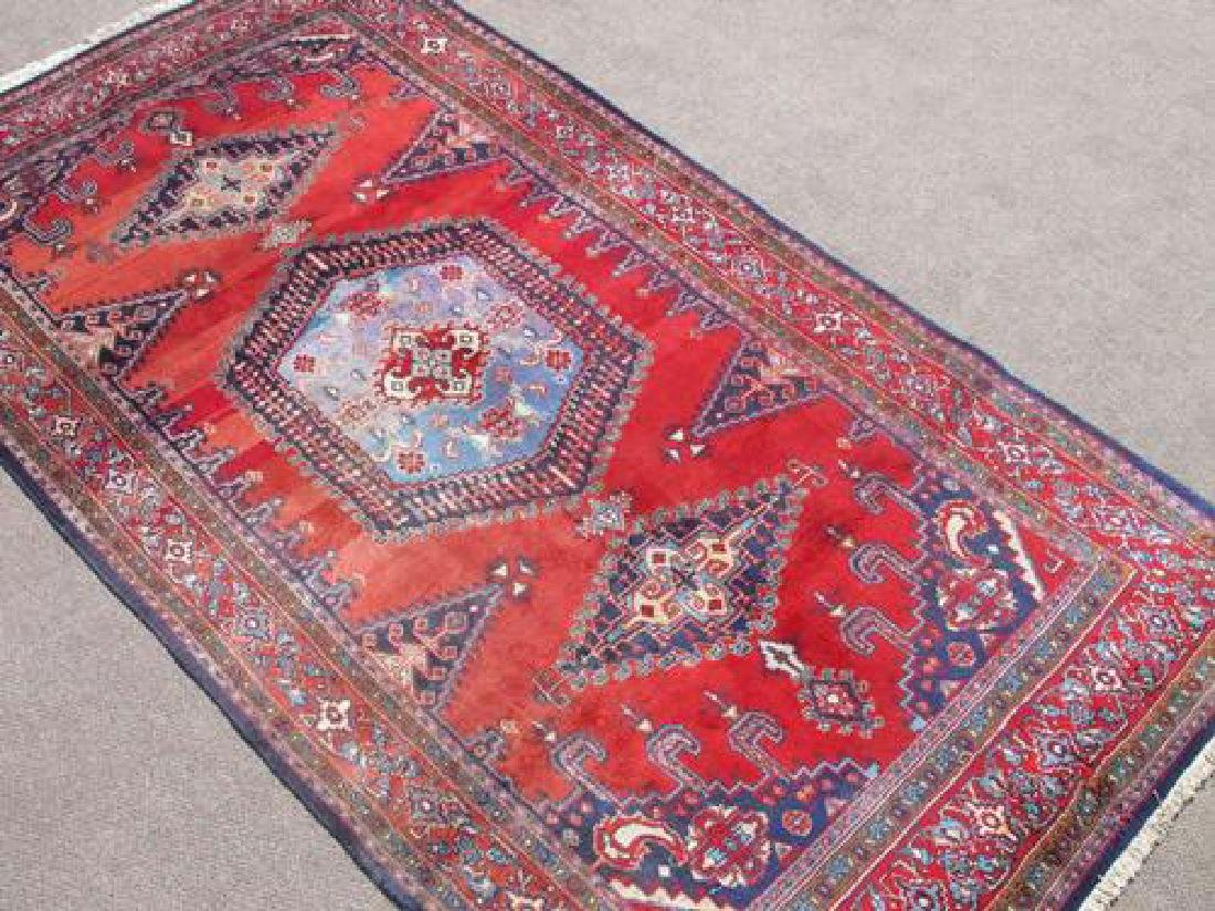Hand Woven Wool on Wool Semi Antique Persian Viss - 2