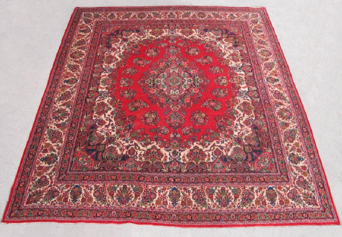 Finely Knotted Handmade Semi Antique Persian Sarouk