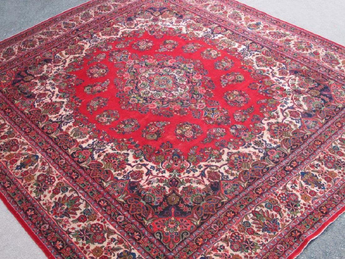 Finely Knotted Handmade Semi Antique Persian Sarouk - 2