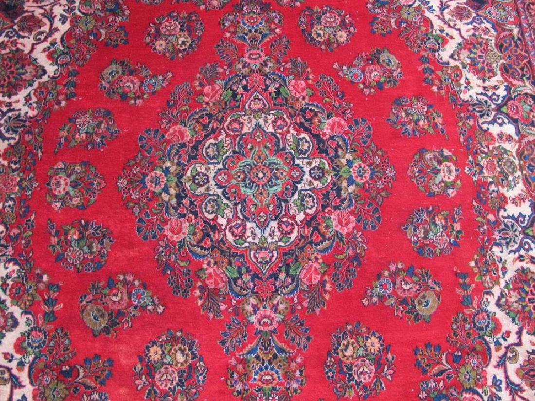 Finely Knotted Handmade Semi Antique Persian Sarouk - 3