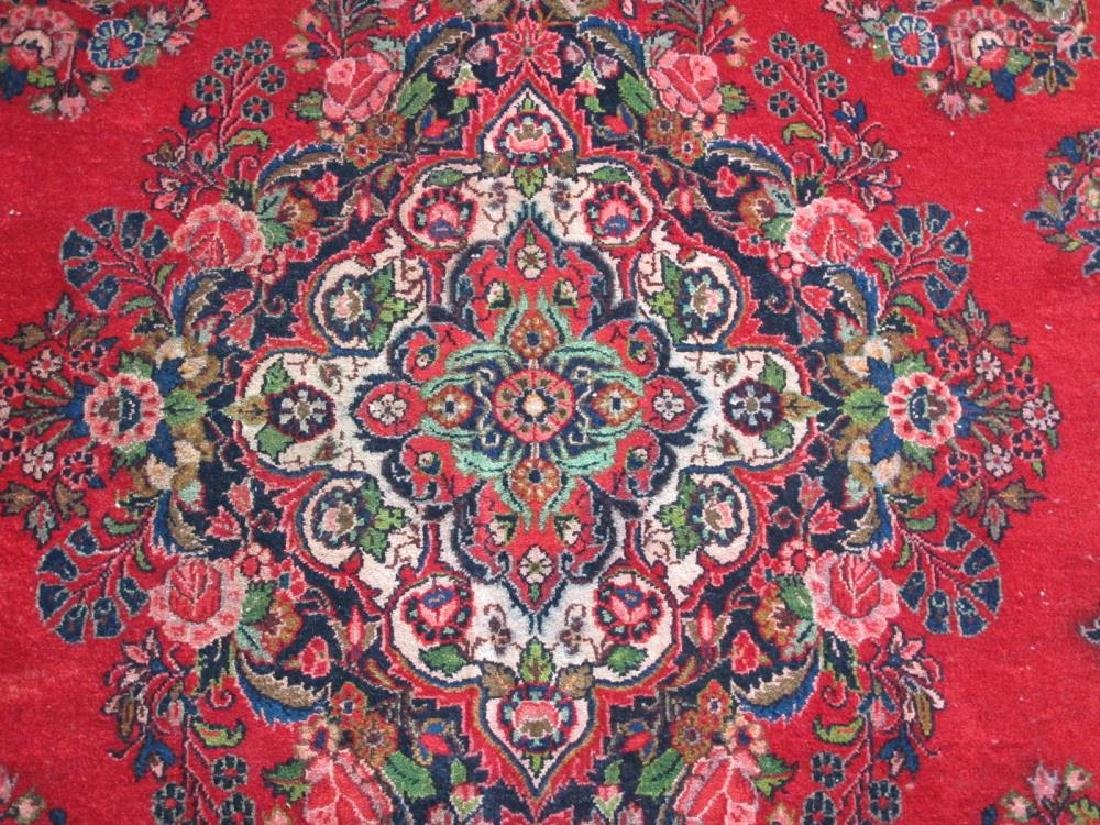 Finely Knotted Handmade Semi Antique Persian Sarouk - 4