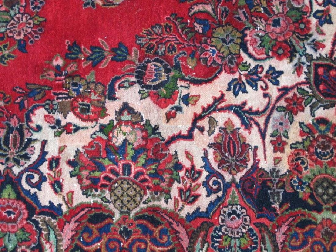 Finely Knotted Handmade Semi Antique Persian Sarouk - 5