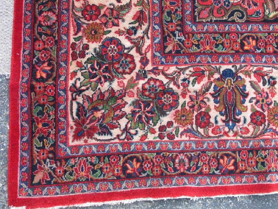 Finely Knotted Handmade Semi Antique Persian Sarouk - 6