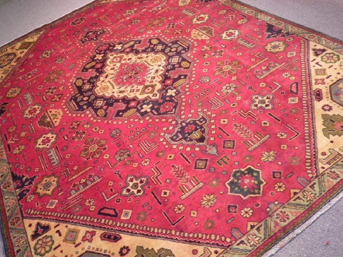 Rare Geometric Semi Antique Persian Tabriz 8.6x10.7 - 2