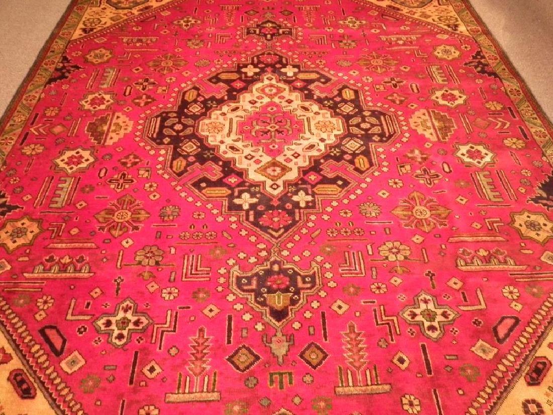 Rare Geometric Semi Antique Persian Tabriz 8.6x10.7 - 3