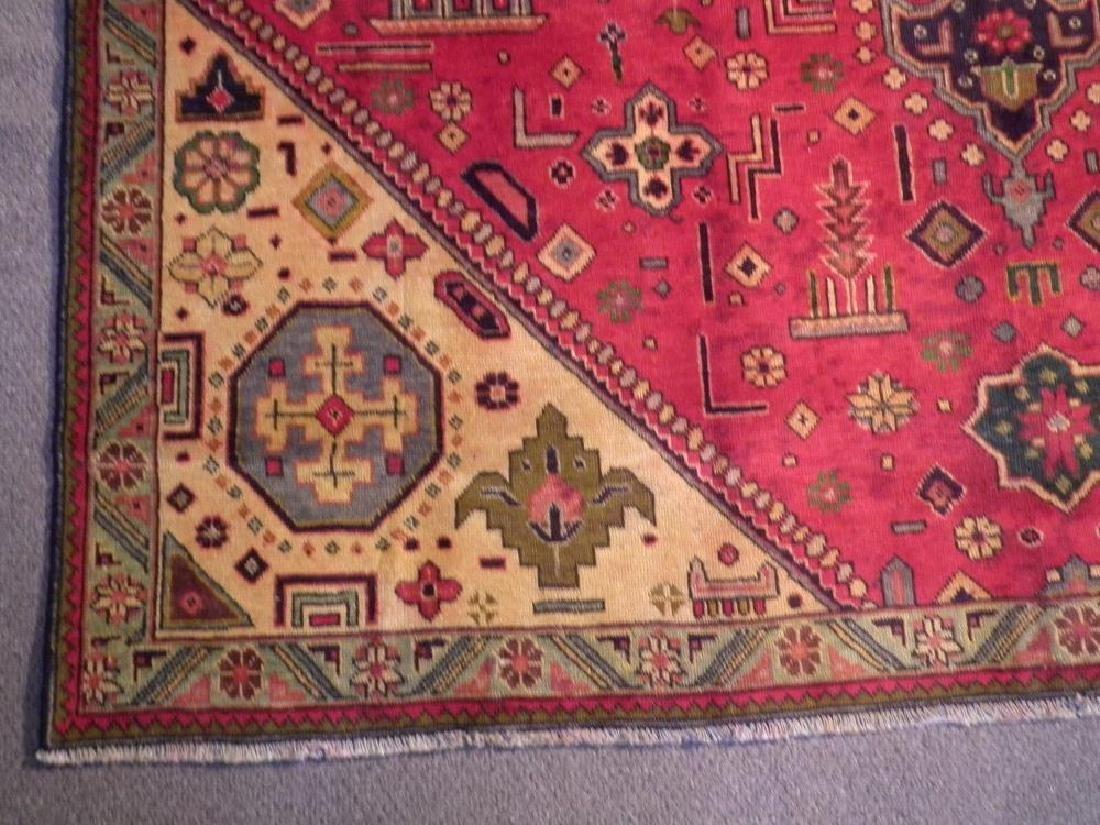 Rare Geometric Semi Antique Persian Tabriz 8.6x10.7 - 5