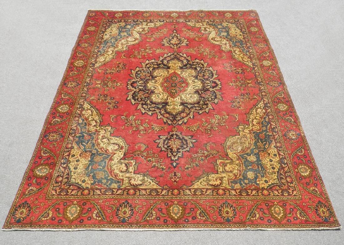 Handmade Semi Antique Persian Tabriz 12.5x8.9