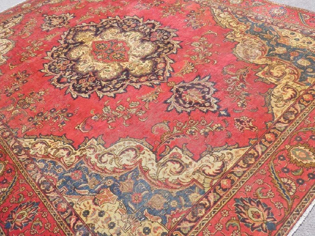 Handmade Semi Antique Persian Tabriz 12.5x8.9 - 2