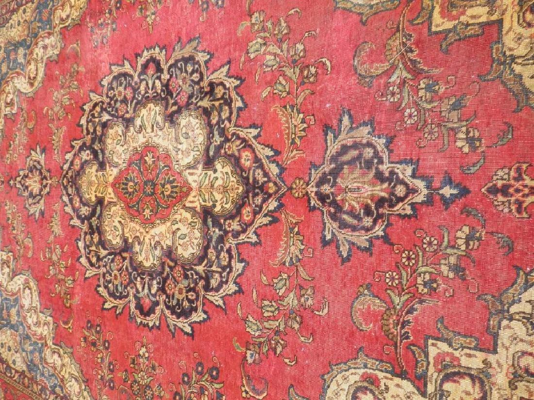 Handmade Semi Antique Persian Tabriz 12.5x8.9 - 3