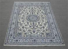 Handmade Wool/Silk Persian Nain 9.9x6.7