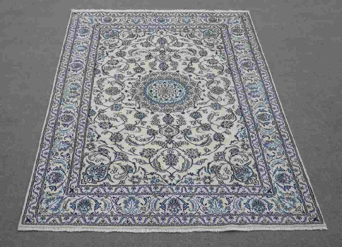 Handmade Wool/Silk Persian Nain 9.9x6.7