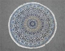 Stunning Round Wool/Silk Persian Nain 3.7x3.7