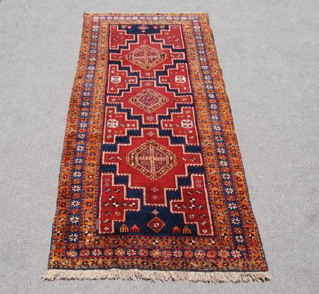 VISUALLY APPEALING HAND WOVEN PERSIAN MESHKIN RUNNER - 2