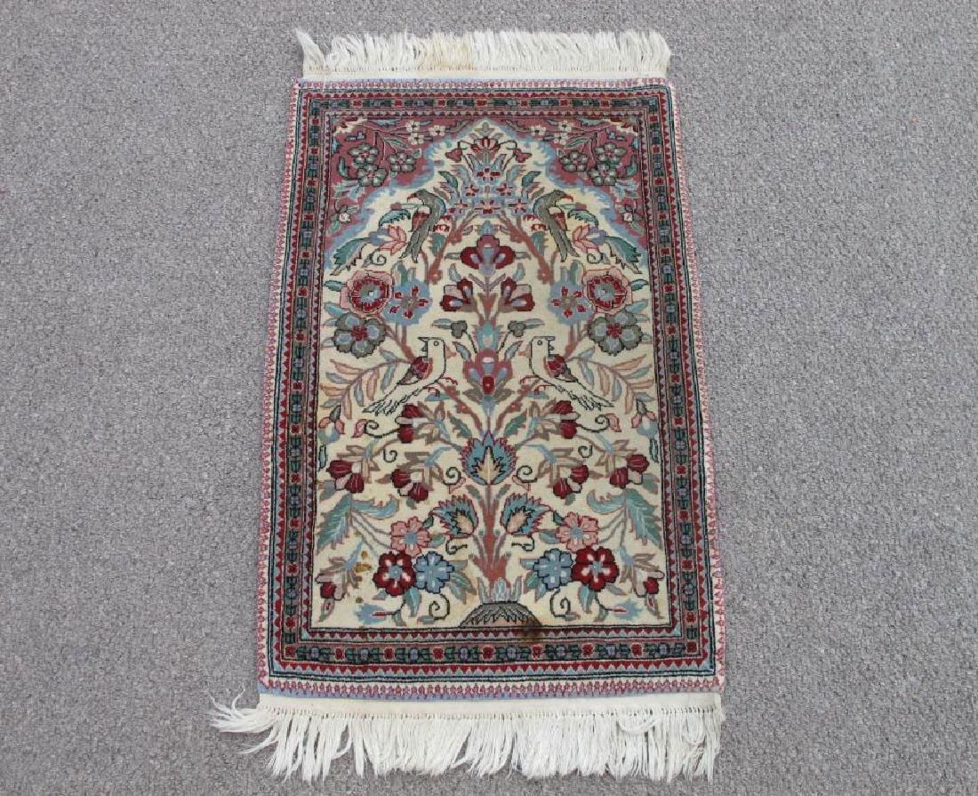 Admirable Handmade Floral Persian Qum Design Rug