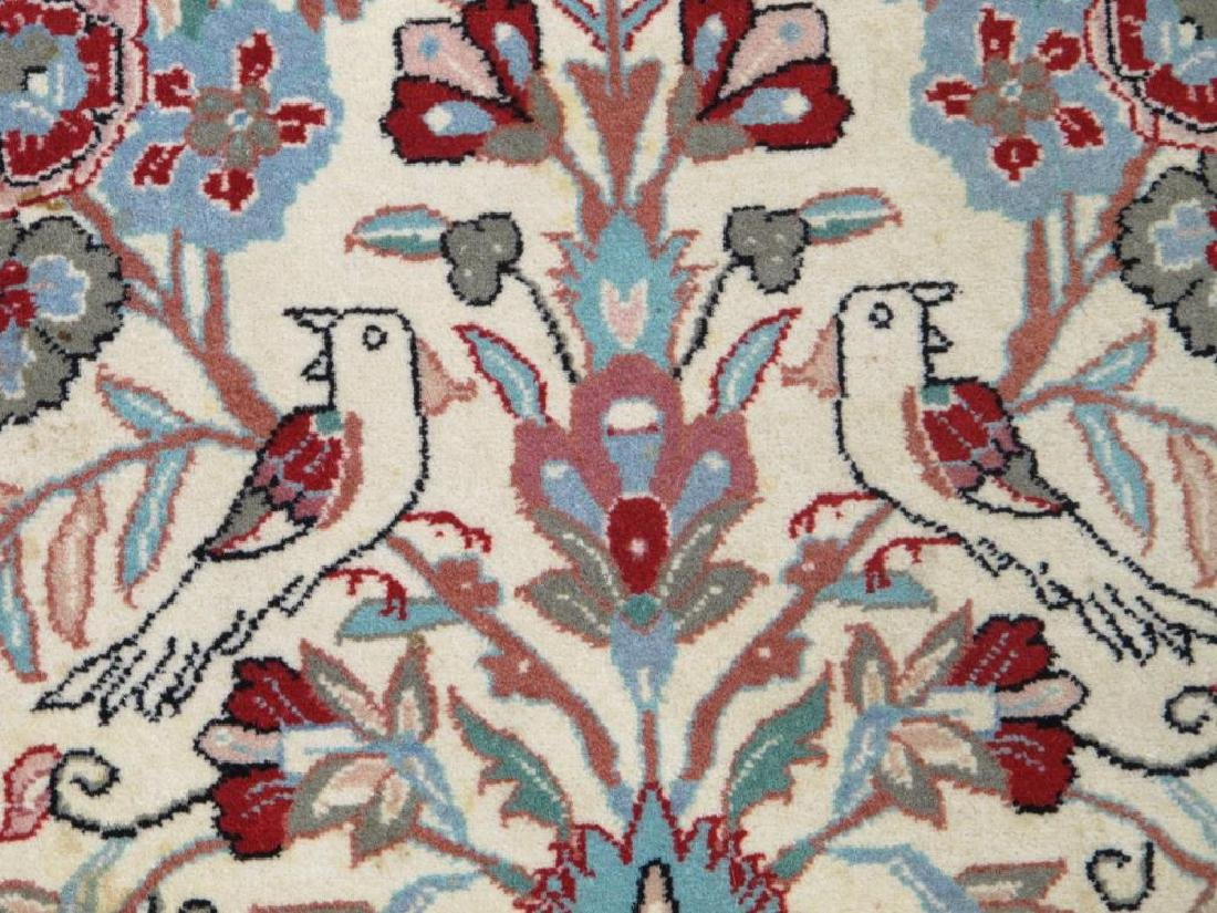 Admirable Handmade Floral Persian Qum Design Rug - 3
