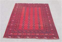 Finely Knotted Delicate Semi Antique Turkmen Design