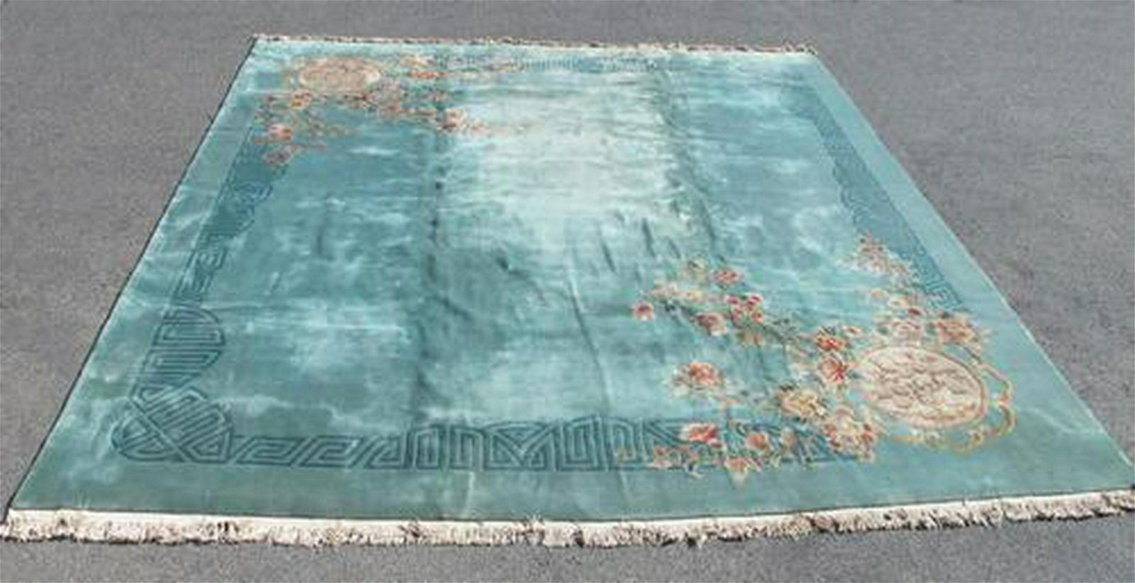 Semi Antique Chinese Nichols Super Rug 19x17.6