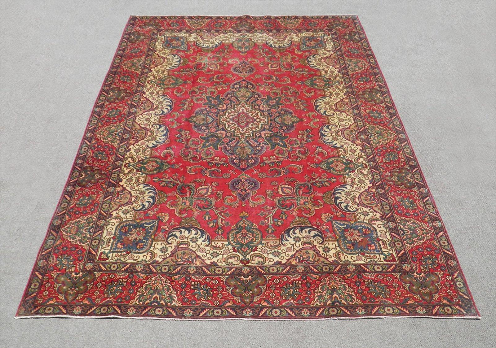 Beautiful Semi Antique Persian Tabriz 12 8x9 5