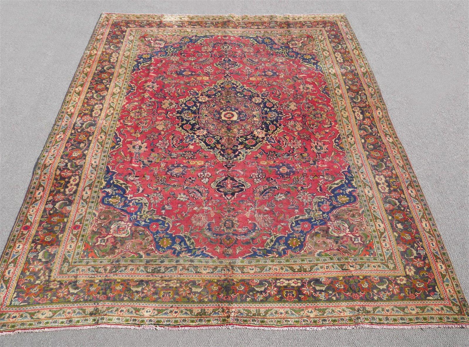 Detailed Semi Antique Persian Mashhad 12.7x9.6
