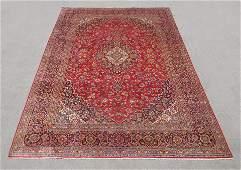 Stunning Semi Antique Persian Kashan 13.8x9.7