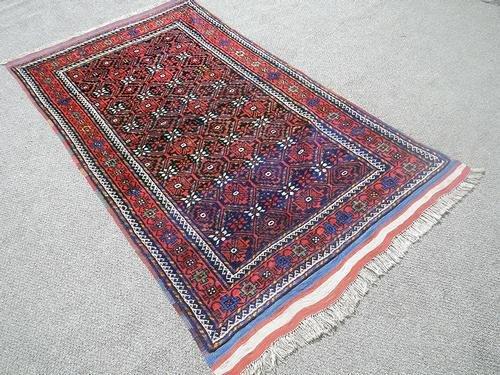 Hand Knotted Persian Kurdish Rug 3.11x7.0