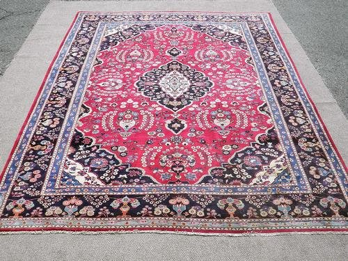 Lustrous High Quality Handmade Persian Mashhad
