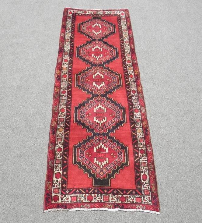 Very Rare Authentic Semi Antique Persian Ardebil Runner