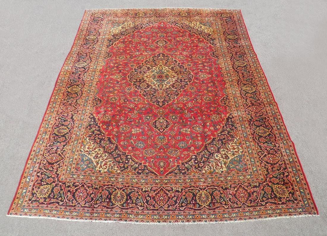 Highly Detailed Semi Antique Persian Kashan 13.6x9.7
