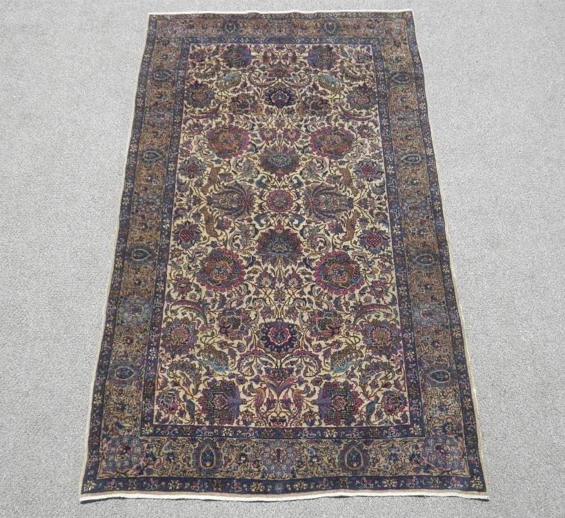 Absolutely Fascinating Antique Persian Kerman 3.9x6.9
