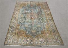 Mesmerizing Semi Antique Part Silk Persian Qum 118x75