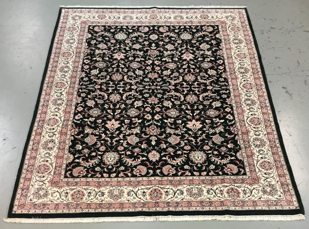 Handmade Indo Kashan 9.3x12.4