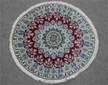 Beautiful Round Wool/Silk Persian Nain 3.3x3.3