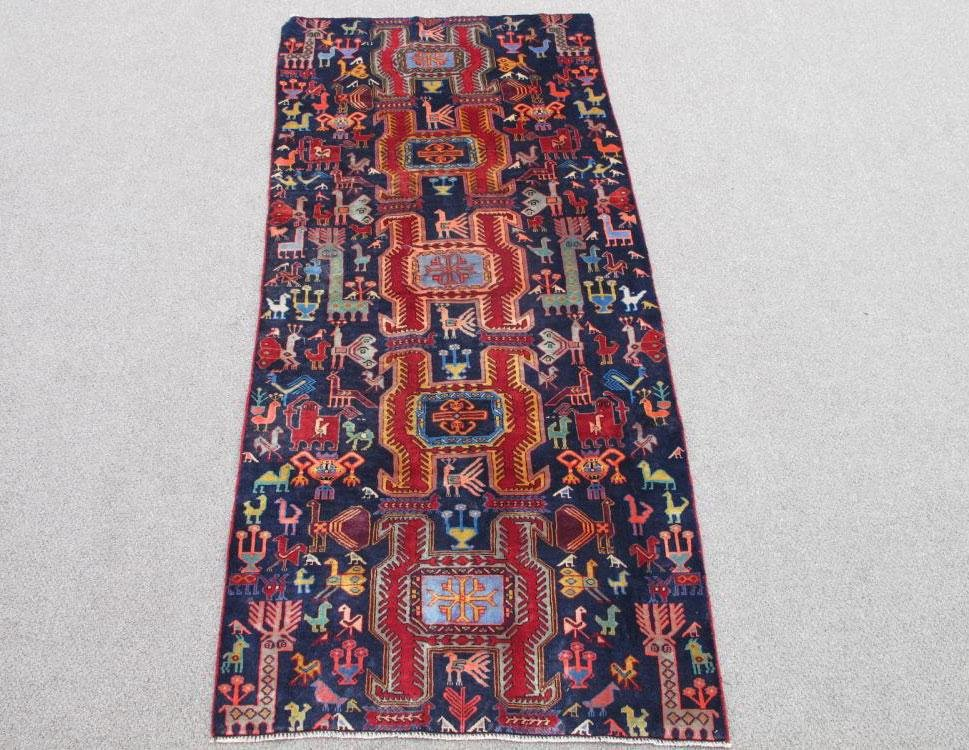 Rare and Charming Antique Persian Ardebil 9.1x3.11