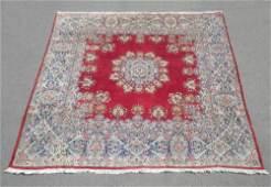 Semi Antique Square Persian Kerman 9.6x9.6