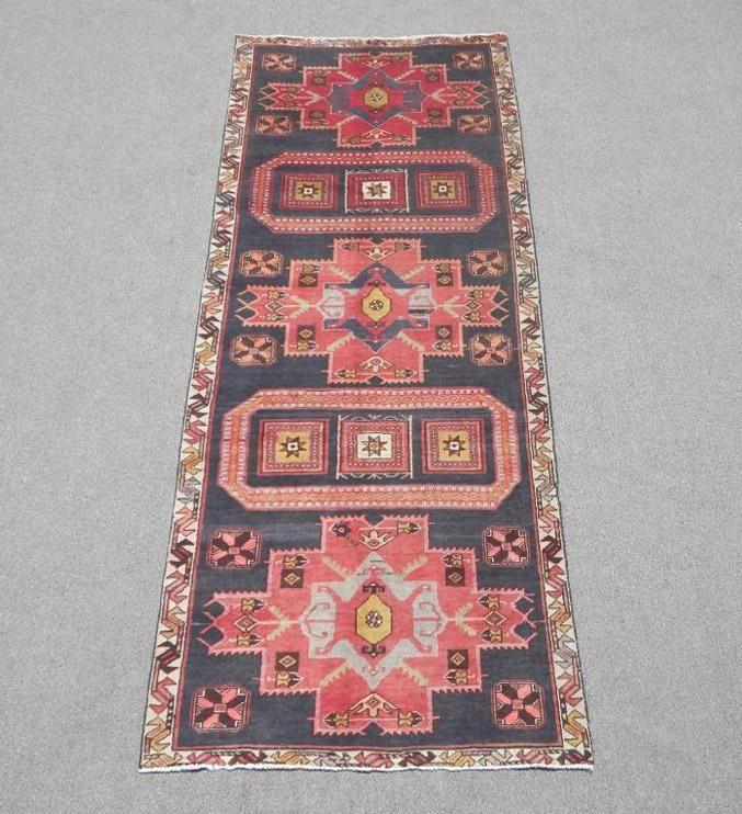 Handmade Persian Kurdish 3.8x9.9