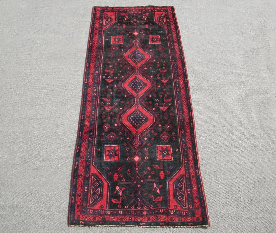 Ravishing Dark Toned Semi Antique Persian Kurdish