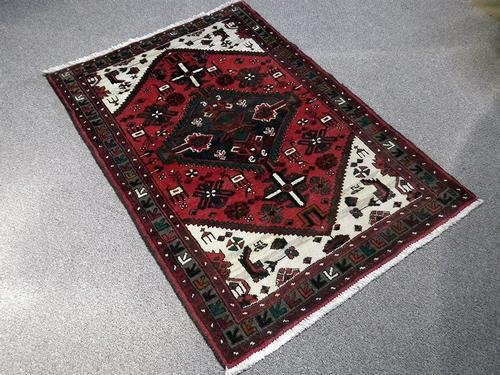 Elegant Hand Woven Authentic Hamedan Rug