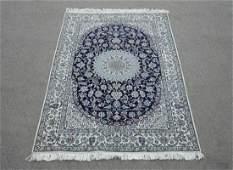 Immensely Detailed Wool/Silk Persian Nain 6.10x4.7
