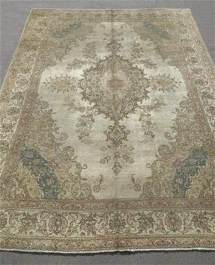 Semi Antique Persian Tabriz 9.6x12.8