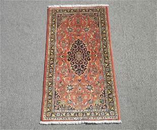Authentic Wool/Silk Persian Kashan 2.2x4.0