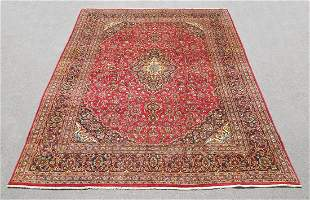 Hand Woven Semi Antique Persian Kashan 13x9.8