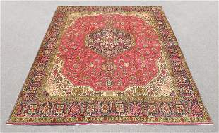 Quite Mesmerizing Semi Antique Persian Tabriz 12.4x9.9