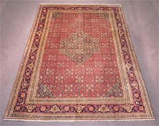 Handmade Semi Antique Persian Tabriz 9.8x7.1