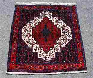 Detailed Semi Antique Square Persian Sanandaj 4.9x4.1
