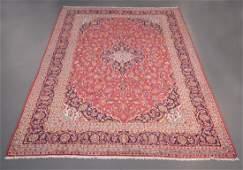 Semi Antique Persian Kashan 9.6x13.8